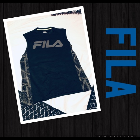 3fd7dc40afa5 Fila Shirts | Sale Sports Sleeveless Athletic Running Shirt | Poshmark